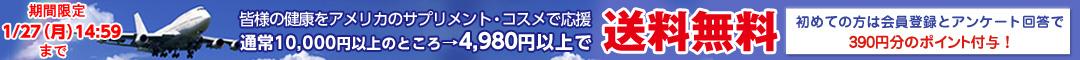 4980円で送料無料キャンペーン