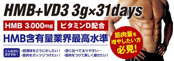 【賞味期限2021年5月】HMB+VD3(ビタミンD3) 3000mg 279粒 アルミパウチ【定期購入あり】