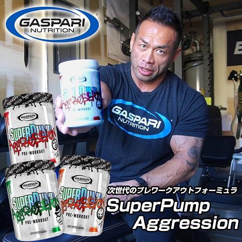 スーパーパンプ アグレッション グレープ 450g 約25杯分 SuperPump Aggression 450g Grape Gaspari Nutrition