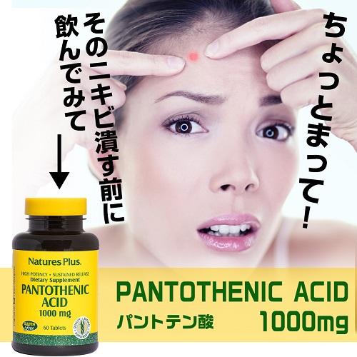 パントテン酸(ビタミンB5) 1000mg (タイムリリース型)