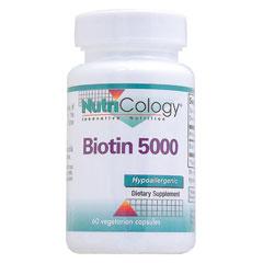 ビオチン(ビタミンH)5000mcg(5mg)ベジタリアンカプセル