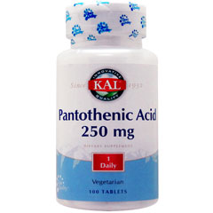 パントテン酸(ビタミンB5) 250mg