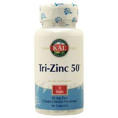 亜鉛 90粒 Tri-Zinc 50mg KAL【定期購入あり】