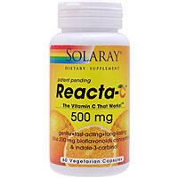 リアクタC 500mg + バイオフラボノイド(タイムリリース型無酸ビタミンC)