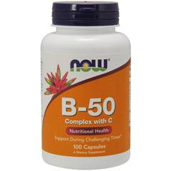 ビタミンB50コンプレックス+ビタミンC 100粒(11種類のビタミンB群)