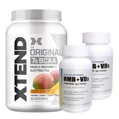 ☆【超お得セット】[大容量約1.2kg]エクステンド(BCAA+Lグルタミン+シトルリン)※マンゴー(1個)&HMB+VD3(2個)