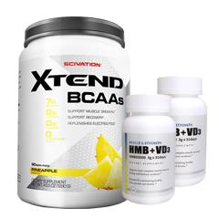 【超お得セット】[大容量約1.2kg]エクステンド(BCAA+Lグルタミン+シトルリン)※パイナップル(1個)&HMB+VD3(2個)
