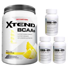 【超お得セット】[大容量約1.2kg]エクステンド(BCAA+Lグルタミン+シトルリン)※パイナップル(1個)&HMB+VD3(3個)