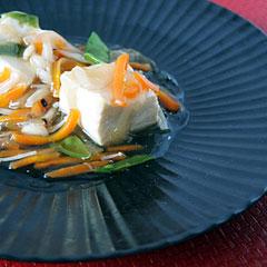 ☆湯豆腐の野菜あんかけ