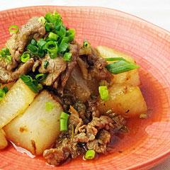 ☆牛肉と大根のザーサイ炒め