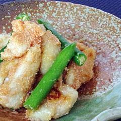 ☆鶏といんげんの明太子バター