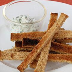 ☆ライ麦パンスティック&ライトチーズスプレッド
