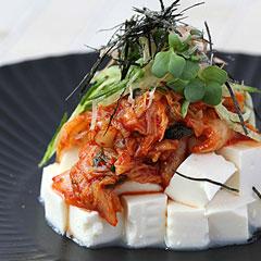 ☆豆腐キムチサラダ