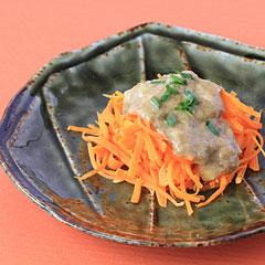☆にんじんの海苔佃煮ソースがけ