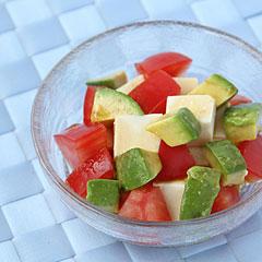 ☆トマト・アボカド・豆腐の美肌サラダ