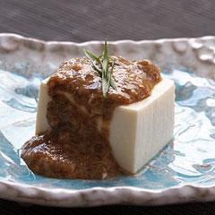 ☆豆腐の海苔佃煮ソース
