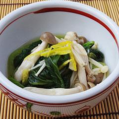☆小松菜ときのこの煮浸し