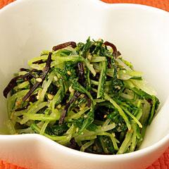 ☆水菜の塩昆布ナムル