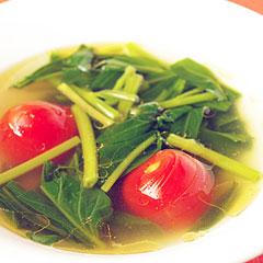 ☆空芯菜とプチトマトのスープ