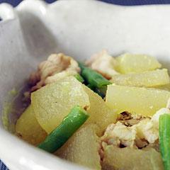 ☆冬瓜と豚肉のカレー風味