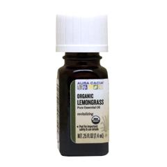 オーガニック レモングラス100%ピュア エッセンシャルオイル 7.4ml
