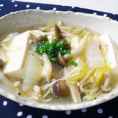 ☆きのこと白菜のあんかけ豆腐
