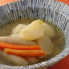 ☆かぶとソーセージのスープ