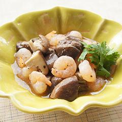 ☆椎茸と海老のエスニック炒め