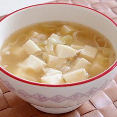 ☆豆腐と長ネギの生姜スープ