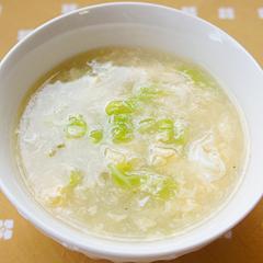 ☆白菜と卵の中華スープ