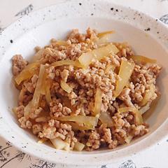 ☆鶏挽肉と大根の甘辛炒め