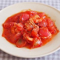 ☆海老とトマトのピリ辛炒め