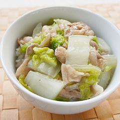 ☆豚バラ肉と白菜の中華丼