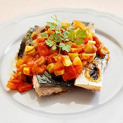 ☆鯖のトマトソースがけ(EPA、DHA 補給)