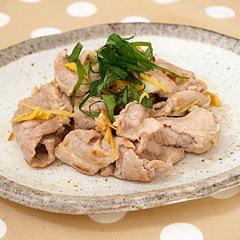 ☆豚肉の梅シソ炒め