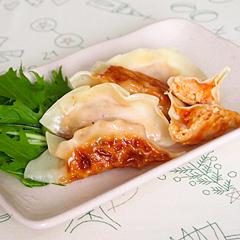 ☆鶏挽肉とキムチの餃子
