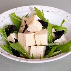☆水菜と豆腐の和風サラダ