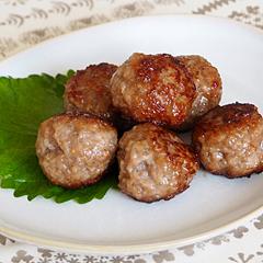 ☆豚ひき肉と生姜の肉団子 (ビタミンB1 補給)
