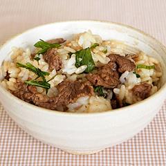 ☆牛肉と大葉の混ぜごはん (ビタミンB12 補給)
