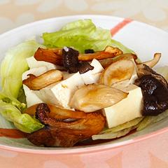 ☆豆腐とエリンギのさっぱりサラダ (タンパク質 補給)