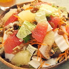 ☆白菜とグレープフルーツのサラダ (ビタミンC 補給)