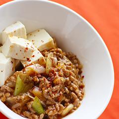 ☆スパイシー肉豆腐 (タンパク質 補給)