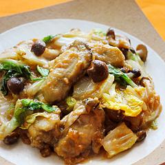 ☆牡蠣と白菜の味噌炒め (亜鉛 補給)