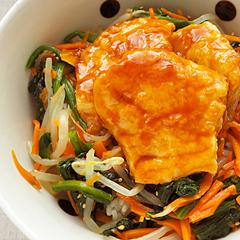 ☆メカジキの韓国風照り焼き丼 (ミネラル 補給)