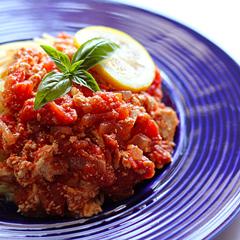 ☆豆腐トマトソーススパゲッティ (タンパク質 補給)