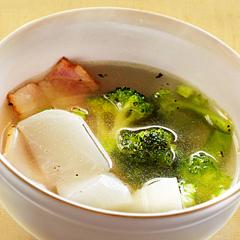 ☆カブとブロッコリーのスープ (消化酵素 補給)