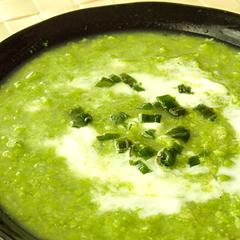 ☆さわやかグリーンピースのスープ (食物繊維 補給)