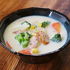 ☆ウィンナーと野菜のミルクスープ