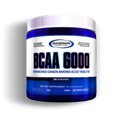 BCAA 6000 (ロイシン強化型分岐鎖アミノ酸) 180粒 BCAA6000 Branched Amino Acid Gaspari Nutrition
