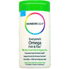 エブリワンズ オメガ フィッシュ&フラックス(EPA&DHA、亜麻仁油配合)